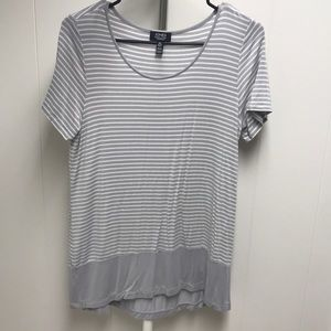 Grey long striped shirt